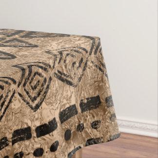 Nappe Or antique et motif ethnique tribal noir