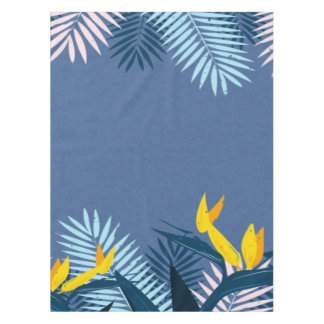 Nappe Paradis tropical bleu moderne