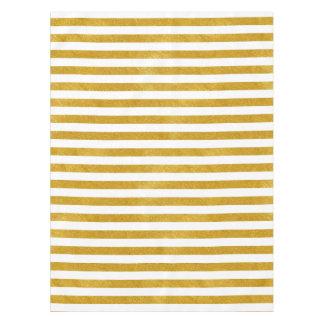 Nappe Rayure élégante d'or - coutume votre couleur