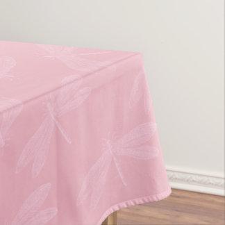 Nappe Rose sur le motif élégant rose de libellule de