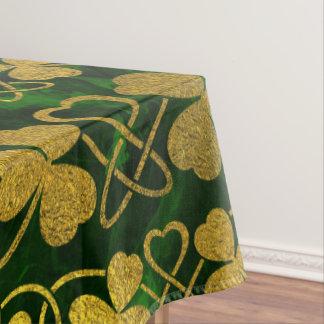 Nappe Shamrock irlandais - or de trèfle et motif vert