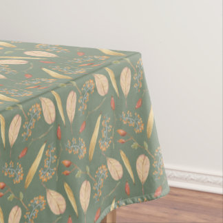 Nappe Vert Tablecover de motif de nature de thanksgiving