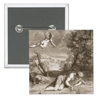 Narcisse transformé en fleur, 1730 (engravi pin's