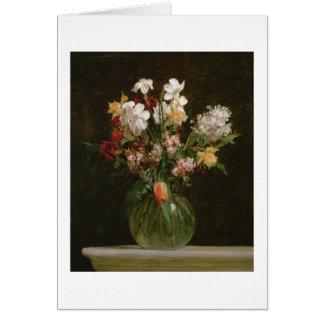 Narcisses Blancs, Jacinthes et Tulipes, 1864 Carte De Vœux