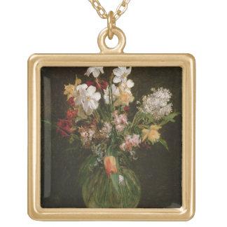 Narcisses Blancs, Jacinthes et Tulipes, 1864 Pendentif Carré