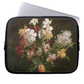 Narcisses Blancs, Jacinthes et Tulipes, 1864 Housse Ordinateur Portable