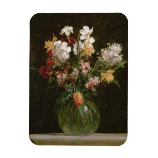 Narcisses Blancs, Jacinthes et Tulipes, 1864 Magnets En Rectangle