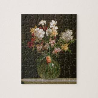 Narcisses Blancs, Jacinthes et Tulipes, 1864 Puzzle