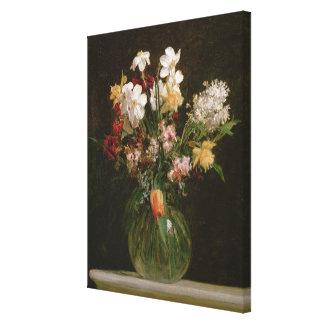 Narcisses Blancs, Jacinthes et Tulipes, 1864 Toiles Tendues
