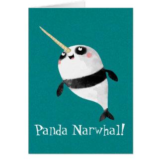 Narwhal et panda dans un cartes