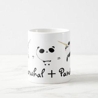 Narwhal plus le panda ! mug blanc