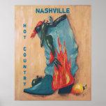 Nashville, affiche chaude de pays