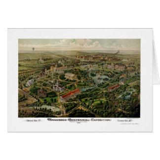 Nashville, carte panoramique de TN - 1897