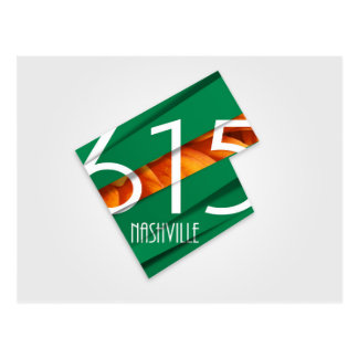 Nashville, carte postale de l'indicatif régional