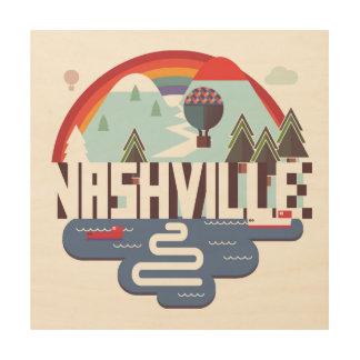 Nashville dans la conception impression sur bois