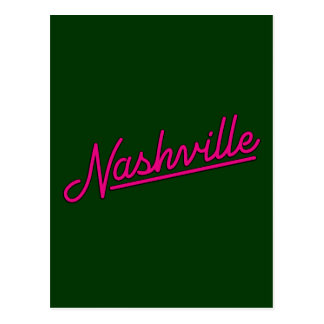 Nashville en magenta carte postale