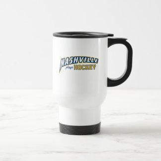 Nashville joue la tasse blanche de voyage d'hockey