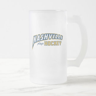Nashville joue la tasse en verre givré d'hockey