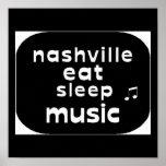 Nashville mangent la musique de sommeil affiche