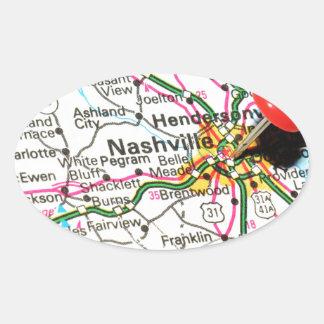 Nashville, Tennessee Sticker Ovale