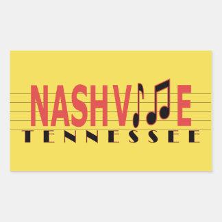 Nashville TN collant à la musique Sticker Rectangulaire