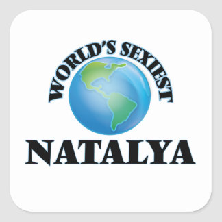Natalya le plus sexy du monde autocollant carré