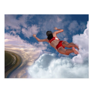 Natation de nuage cartes postales