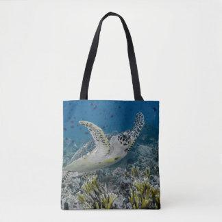 Natation de tortue de mer de Hawksbill Sac
