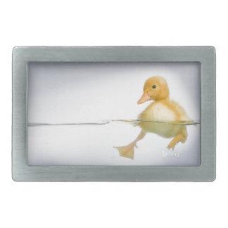 Natation jaune de caneton boucle de ceinture rectangulaire