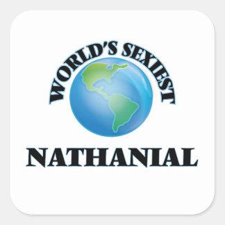 Nathanial le plus sexy du monde sticker carré