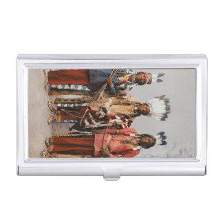 Natifs américains de cru de chefs d'Apache Porte-cartes De Visite