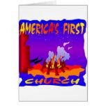Natifs américains, première église des Amériques Cartes De Vœux
