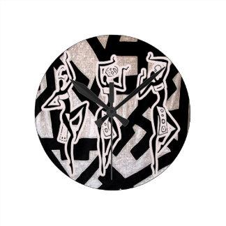 Nation africaine de rythme sous le verger pendule murale