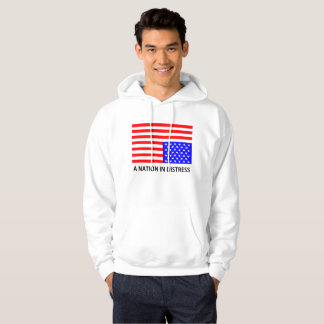Nation dans le sweat - shirt à capuche de détresse