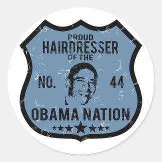 Nation d'Obama de coiffeur Adhésif Rond