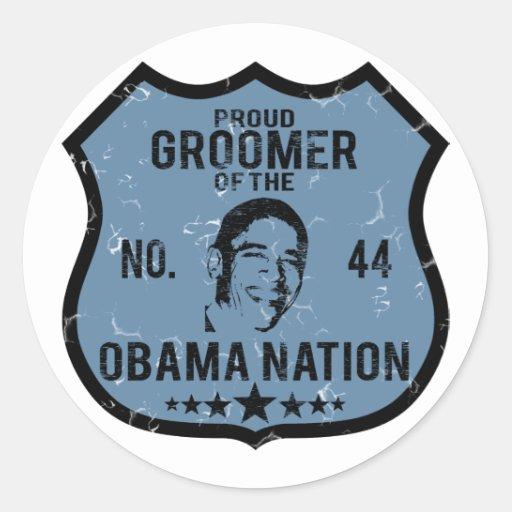 Nation d'Obama de Groomer Adhésifs Ronds