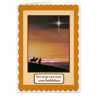 Nativité, carte de Noël religieuse