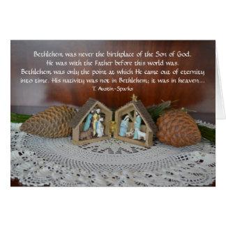Nativité… Carte de voeux