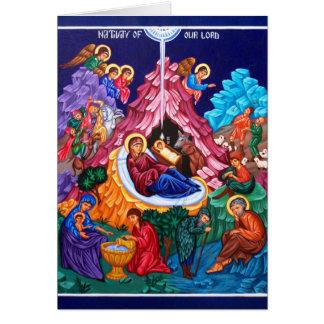 Nativité de carte de Jésus Holyday