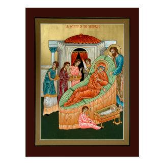 Nativité de la carte de prière de Theotokos Cartes Postales