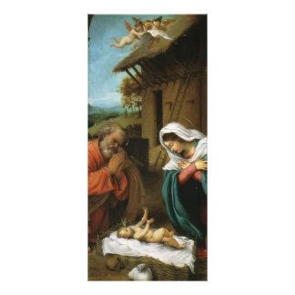 Nativité de Loto de Lorenzo du Christ Modèle De Double Carte