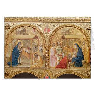 Nativité et l'adoration des Magi Carte De Vœux