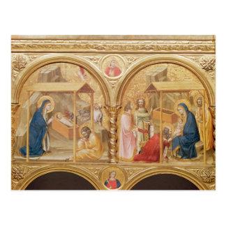 Nativité et l'adoration des Magi Carte Postale