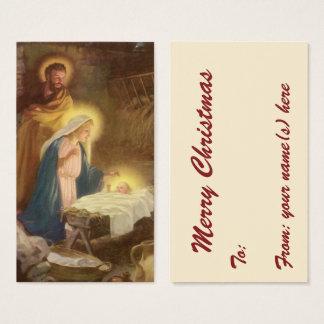 Nativité vintage de Noël, bébé Jésus de Mary Cartes De Visite