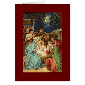 NATIVITÉ VINTAGE de Noël Carte De Vœux