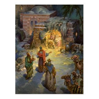 Nativité vintage de Noël Carte Postale