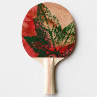 """""""Nature botanique rouge d'impression de nature de Raquette Tennis De Table"""