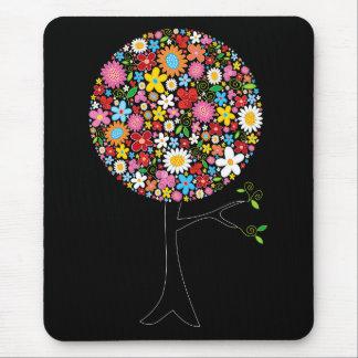 Nature colorée lunatique d'arbre de bruit de tapis de souris