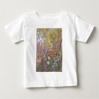 nature d'art de main de peinture de peinture de t-shirt