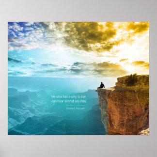 Nature d'aventure de nature de Friedrich Nietzsche Posters